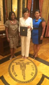 2016-mayor-certificate-of-recognition-with-mayor-romona-wise-and-lashelle-stewart